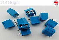5mm Blue 2 Pin Plug-in Screw Terminal Block Connector  ..   ..    (Pack of 1-10)