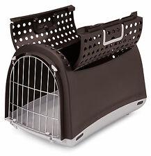 Katzen Transportbox Linus Cabrio mokka 50x32x35cm Nager Hunde Transport Box