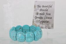 GENUINE CHINESE TURQUOISE COSTUME STRETCH BRACELET FASHION 2085B