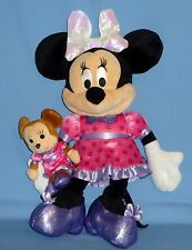"Disney Minnie Mouse plush doll-16"" Brown Baby Minnie-6"" TALKS,GIGGLES;LIGHTS UP"