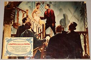 fotobusta film LA DONNA PIU' BELLA DEL MONDO Gina Lollobrigida V.Gassman 1955
