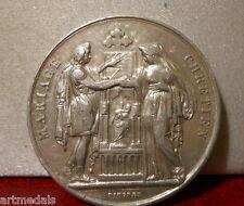 1889 Historical Silver Marriage Medal Token Christian Wedding