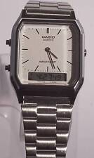 Nice White Face Stainless Steel CASIO Dual Display Watch AQ-230 5154