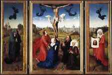 Weyden Crucifixion Triptych A4 Print