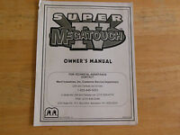 SUPER MEGATOUCH IV 4 arcade  video game manual