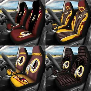 Set of Two Washington Redskins Car Seat Covers Universal Fit Seat Protector