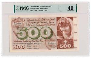 SWITZERLAND banknote 500 Franken 1969 PMG XF 40 Extremely Fine