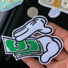 22000 Green Dollar Sign Money Bills $ Cash Cutout Embroidered Sew Iron On Patch
