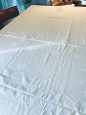 Grande nappe blanche damassée 2m50/170+12 serviettes coton Le jacquard Français