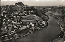 Toledo, partial view and Tagus river, 1960, posted