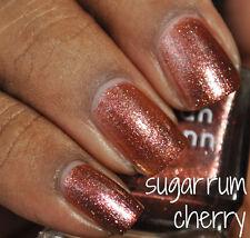 NEW! Deborah Lippmann SUGAR RUM CHERRY Nail Polish Lovely Rosy Copper Shimmer