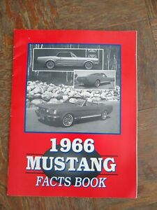 1966 Ford Mustang  Facts Book