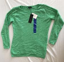 Rachel Zoe Ladies Knit Sweater Long Sleeve Crew Neck Mint Green NEW Size Large