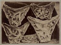 Scultura Medio Età Art Gotico Francia Vintage Albumina Circa