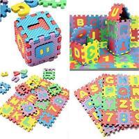Kids  Play Mat 36PCS Alphabet  & Numerals Baby Soft Foam Mats Educational Toy
