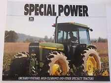 1990 John Deere Special Power Orchard Vineyard Tractor Brochure LOTS More Listed