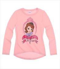 T-shirt rose à manches longues pour fille de 2 à 16 ans en 100% coton