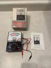 Vtg. Micronta Battery Tester w/ Original Box and Paperwork 22-031 Radio Shack