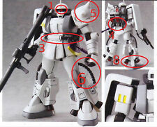 U.S. SELLER - Metal Detail-up Part Set RED For Bandai MG 1/100 MS-06R-1A