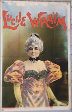 FRENCH VINTAGE POSTER LUCIE WRAÏM CABARET THEATRE ci 1895 - 1900