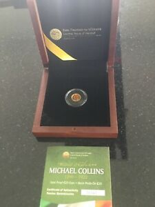 Michael Collins Gold Proof €20 Coin