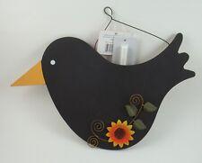 Chalkboard Message Board Center Photo Notes Bills Picture Holder Crow Sunflower