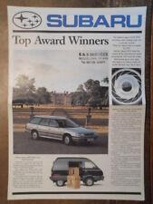 SUBARU RANGE orig 1990 UK Mkt Sales Brochure - XT Coupe Justy Legacy Sumo MV