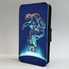 Astronaut Space Skateboarding Art FLIP PHONE CASE COVER for IPHONE SAMSUNG