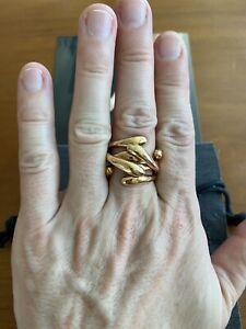 """Monica Castiglioni Italian Bronze Ring """"Abbracci"""" Size 7 With Pouch"""