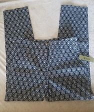 dazz Women's Pants Blue White Large NWT 28waist 26 inseam Ships in 24 hours!