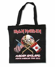 IRON MAIDEN NORTH AMERICAN TOUR 2012 BLACK TOTE BAG NEW OFFICIAL BAND MUSIC