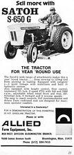 1972 satoh 650g farm tractor