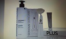 SERIOUS SKIN CARE A WASH CLEANSER, PLUSH 80K BRUSH & DIFFUSE SKIN PERFECTOR WOW!