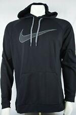Nwt $55 Mens Nike Swoosh Pull Over Black Hoodie sz L Aq5249 010 Dri Fit Training