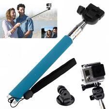 Une perche à selfie BLEU Permet de filmer avec votre GoPro Plus un adaptateur