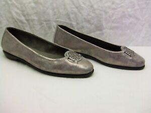 "Aerosoles ""Exhibet"" Pewter Loafer Flat Comfort Shoe Womens 12 Med ~ NWOB b"