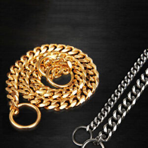 Pets Dogs Choke Chain Gold Color Choker Collar Necklace Stainless Steel Gifts