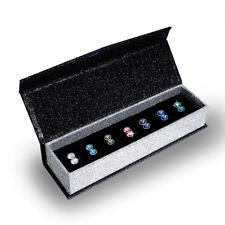 Genuine Crystals by Swarovski 7 Days Earring Set 18k White GP - Krystal Couture