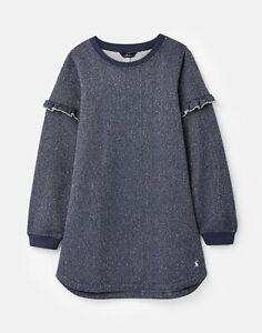 Joules Girls Torie Sweatshirt Dress  - Mid Navy - 5Yr