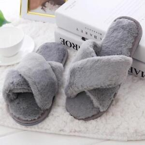 Women Slippers For Winter Home Fur Fashion Warm Shoes Indoor Birth Day Gift S M