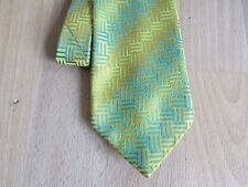YELLOW & Green Patterned Tie by Havana at Tie Rack and Made in England