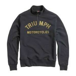 Triumph Ribble Half Zip Sweatshirt - Black | UK Stock | Fast Delivery