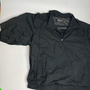 Mizuno Baseball Warm-up Pullover Jacket Men's Size XL Windbreaker Zip 1/2 Sleeve