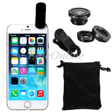 Clip-on 3in1 black Fish Eye,Macro Camera,Wide Angle Lens Kit For Apple iPhone 6