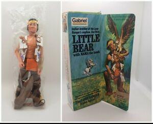 """Little Bear 8"""" The Lone Ranger 1975 Gabriel Vintage  Action Figure MINT"""