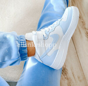 Nike air force 1 mid custom baby blue