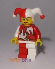 Lego Jester Minifigure from set 9349 Castle, Kingdoms Female NEW cas480