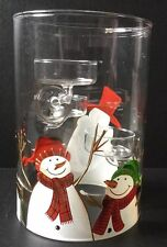 YANKEE CANDLE MERRY AND BRIGHT SNOWMEN MULTI TEA LIGHT HOLDER RETIRED ITEM