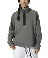 Nike Womens Sz S All Time Therma Half Zip Pullover Gray/Black EUC