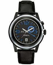 Brand New Breil TW1194 Orchestra GMT Black Blue Date Watch Croc Leather Strap